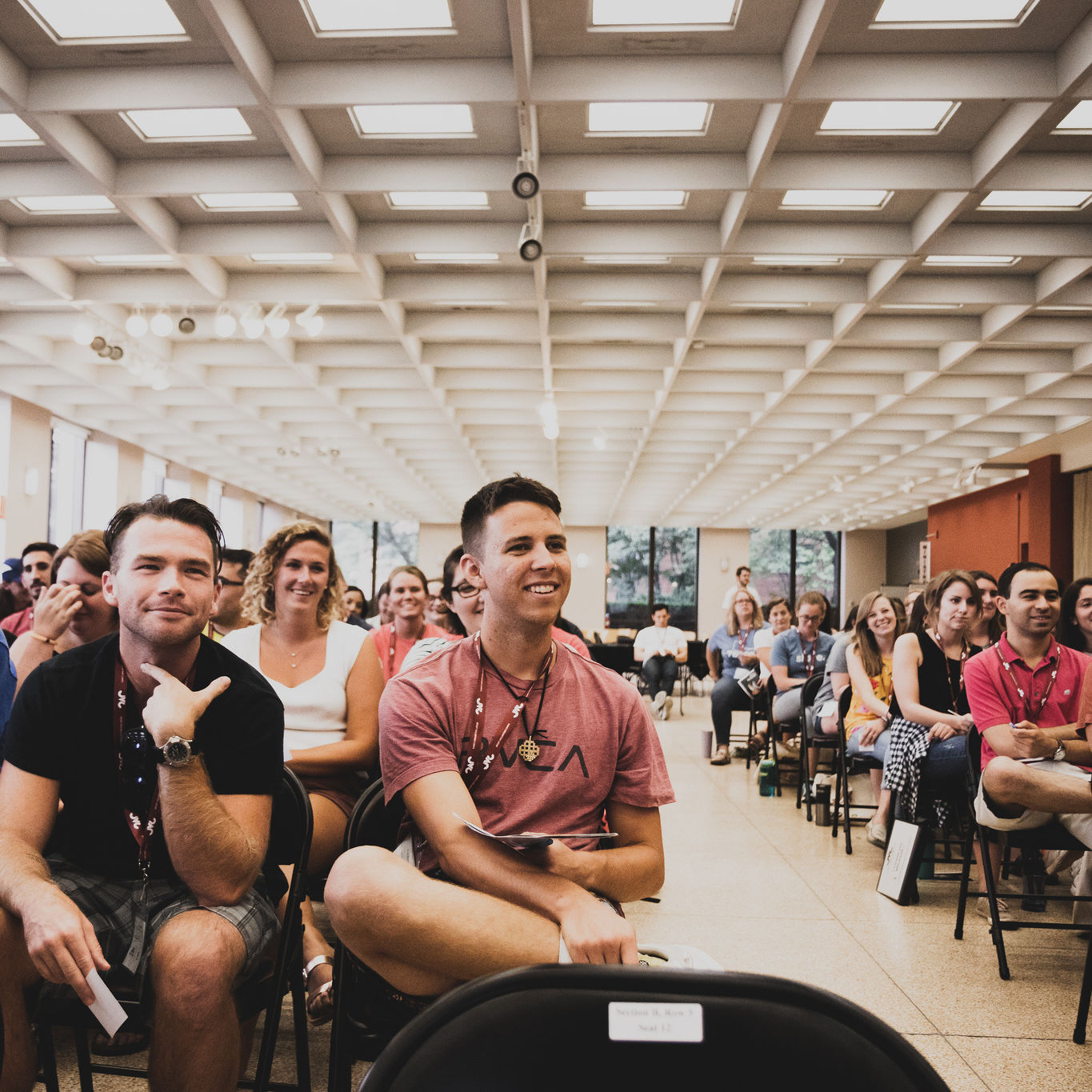jesuit Volunteers listen to presentations at August 2018 Orientation