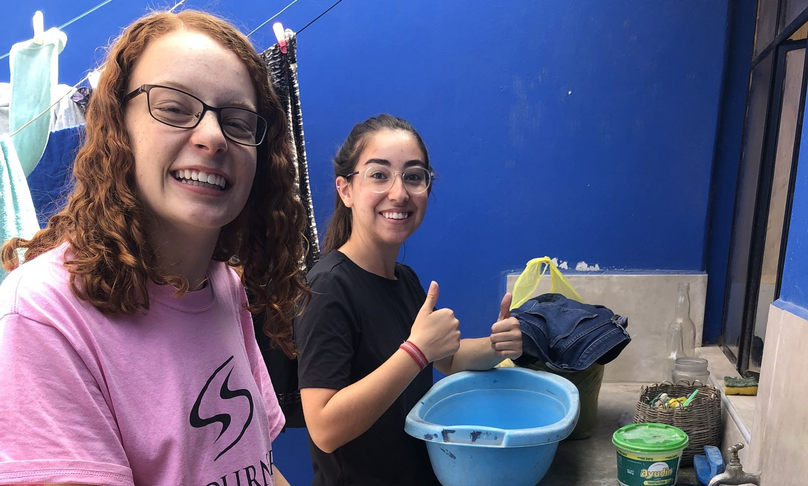 Tacna JVs doing our laundry the old fashioned way-by hand! (2019)