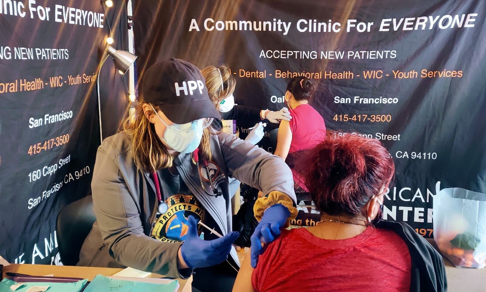 Current Jesuit Volunteers join forces to get a mobile clinic up and running through garnering a partnership between their two organizations.